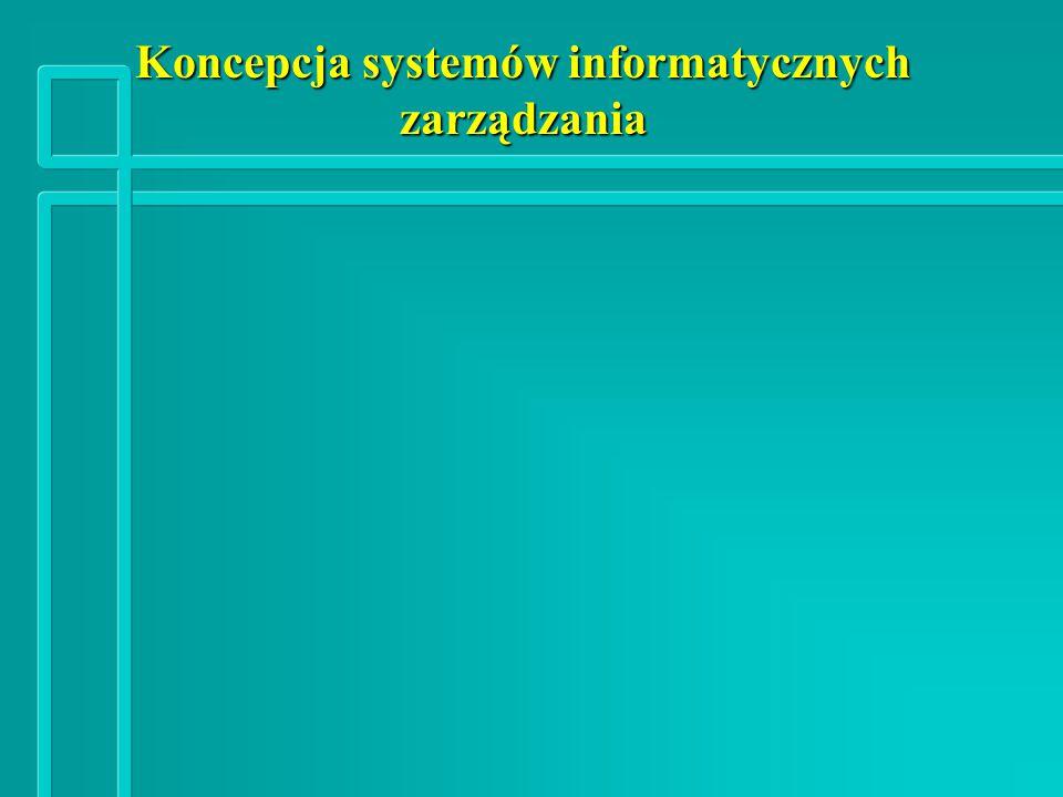 Koncepcja systemów informatycznych zarządzania