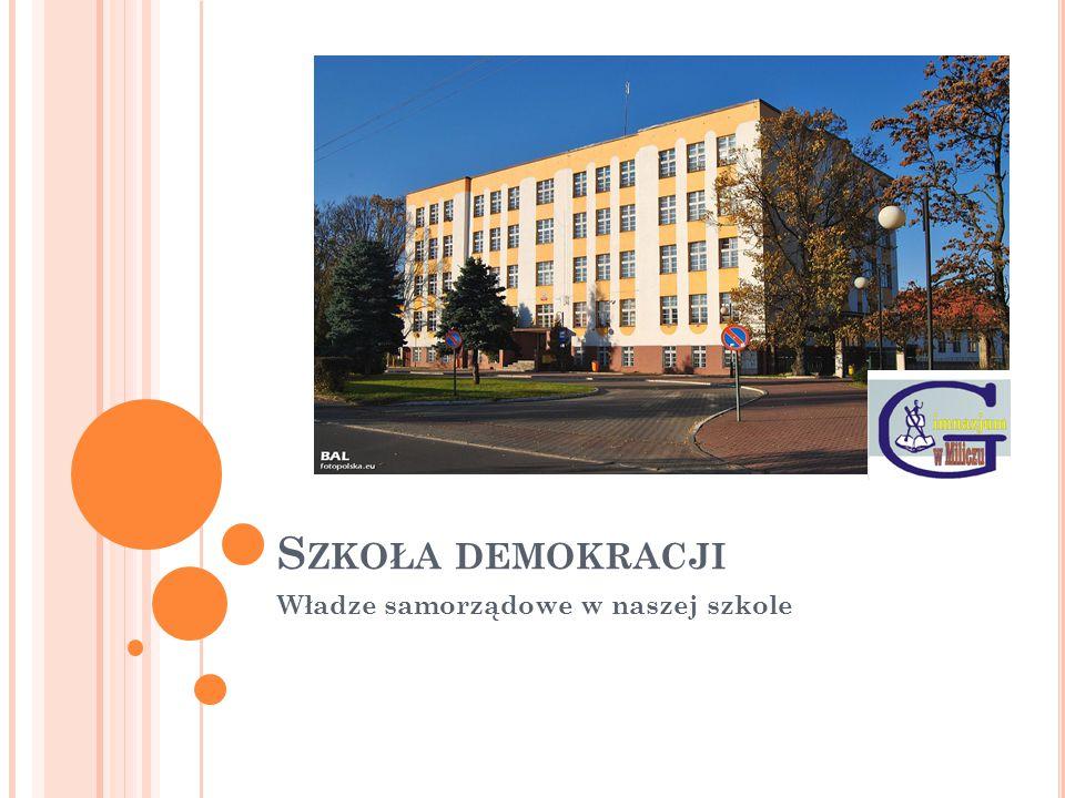 S ZKOŁA DEMOKRACJI Władze samorządowe w naszej szkole