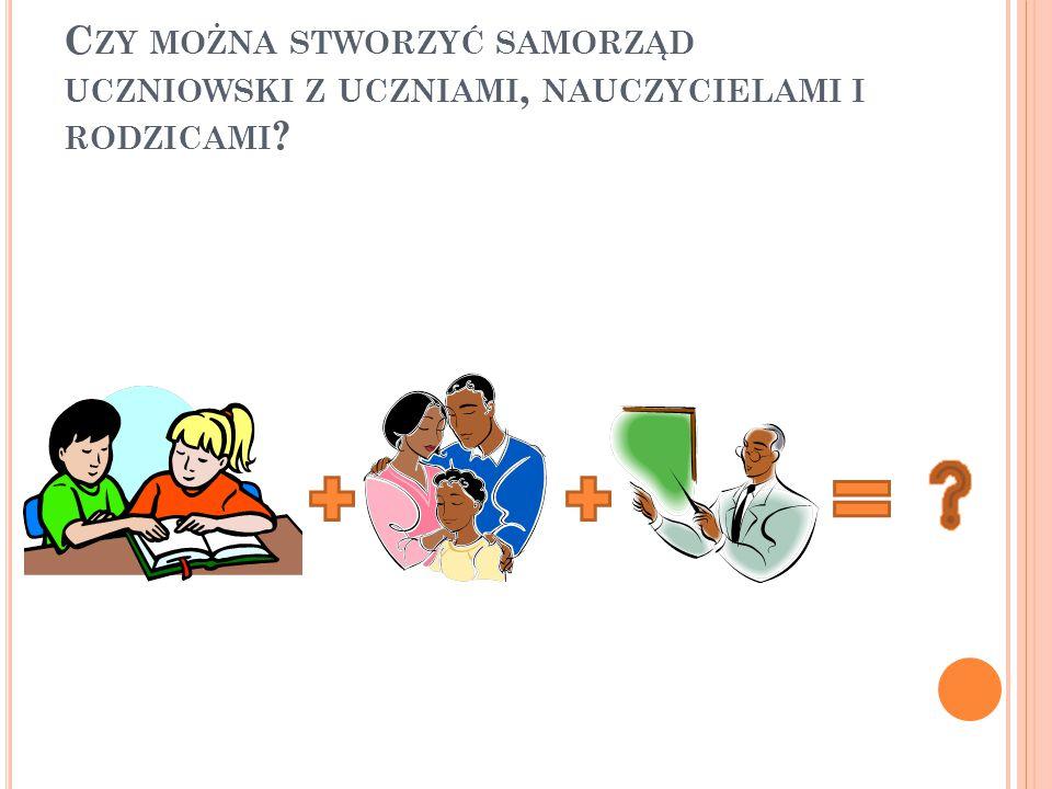 Samorząd złożony z uczniów, nauczycieli i rodziców reprezentuje interesy wszystkich stron.