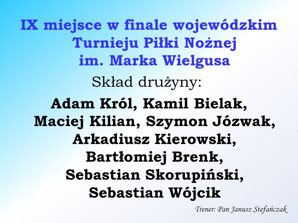 IX miejsce w finale wojewódzkim Turnieju Piłki Nożnej im.