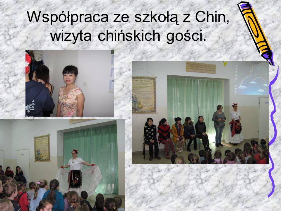 Współpraca ze szkołą z Chin, wizyta chińskich gości.
