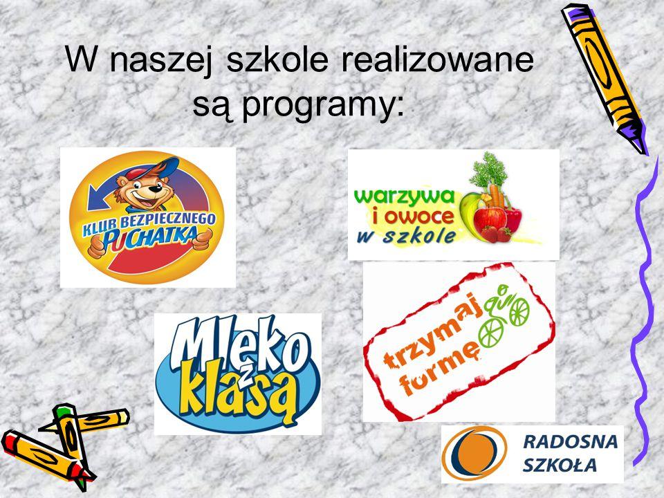 W naszej szkole realizowane są programy: