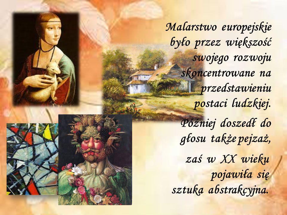 Malarstwo europejskie było przez większość swojego rozwoju skoncentrowane na przedstawieniu postaci ludzkiej. Później doszedł do głosu także pejzaż, z