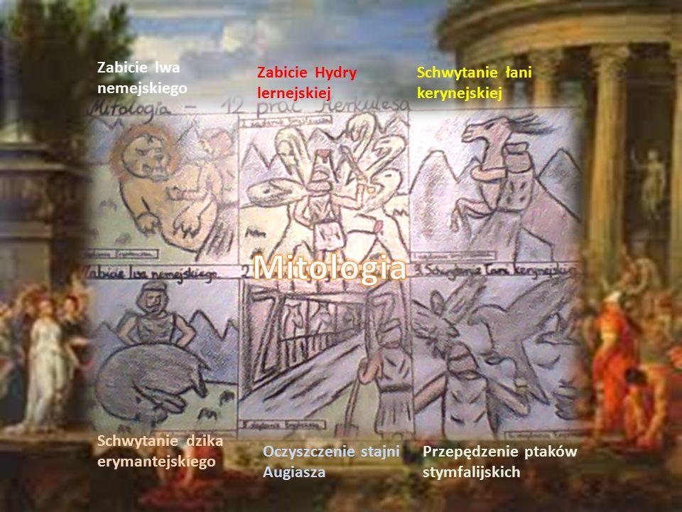 Zabicie lwa nemejskiego Zabicie Hydry lernejskiej Schwytanie łani kerynejskiej Schwytanie dzika erymantejskiego Oczyszczenie stajni Augiasza Przepędze