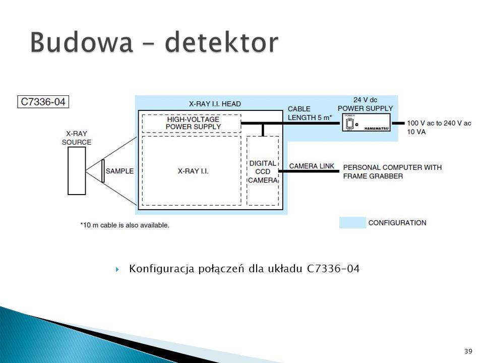39  Konfiguracja połączeń dla układu C7336-04