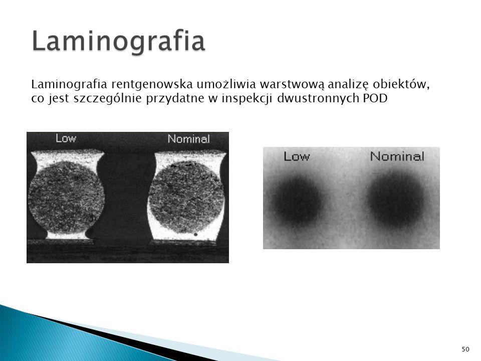 Laminografia rentgenowska umożliwia warstwową analizę obiektów, co jest szczególnie przydatne w inspekcji dwustronnych POD 50