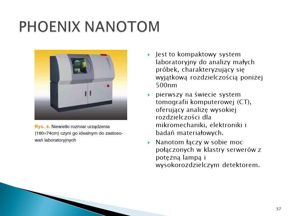 57  Jest to kompaktowy system laboratoryjny do analizy małych próbek, charakteryzujący się wyjątkową rozdzielczością poniżej 500nm  pierwszy na świecie system tomografii komputerowej (CT), oferujący analizę wysokiej rozdzielczości dla mikromechaniki, elektroniki i badań materiałowych.