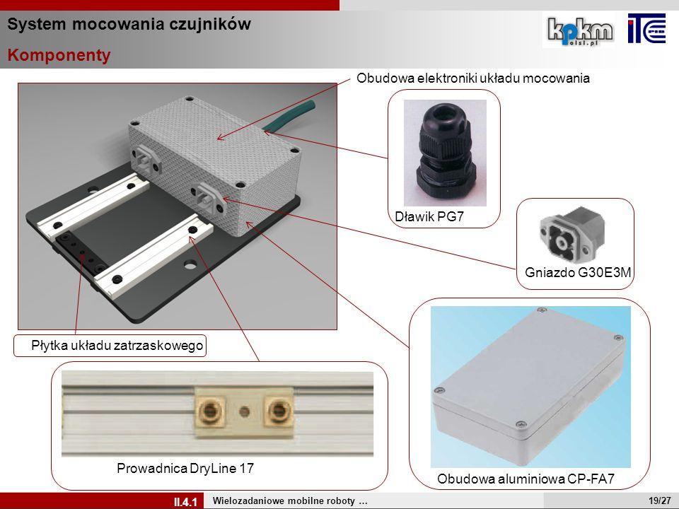 System mocowania czujników Komponenty Wielozadaniowe mobilne roboty … Prowadnica DryLine 17 Obudowa aluminiowa CP-FA7 Dławik PG7 Obudowa elektroniki u
