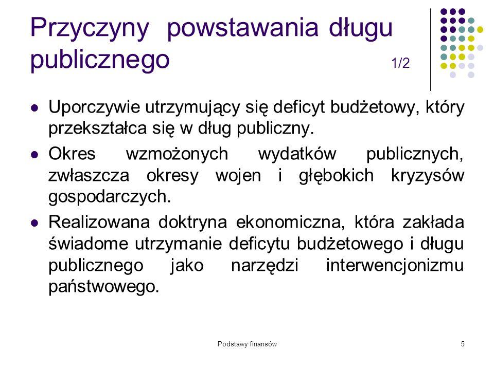 Podstawy finansów66 Deficyt budżetu j.s.t.