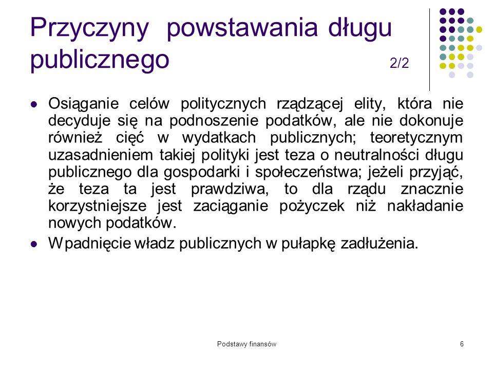 Podstawy finansów57 Zadania samorządu gminy 4/5 12.