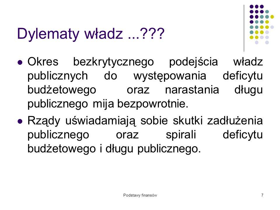 Podstawy finansów58 Zadania samorządu gminy 5/5 17.