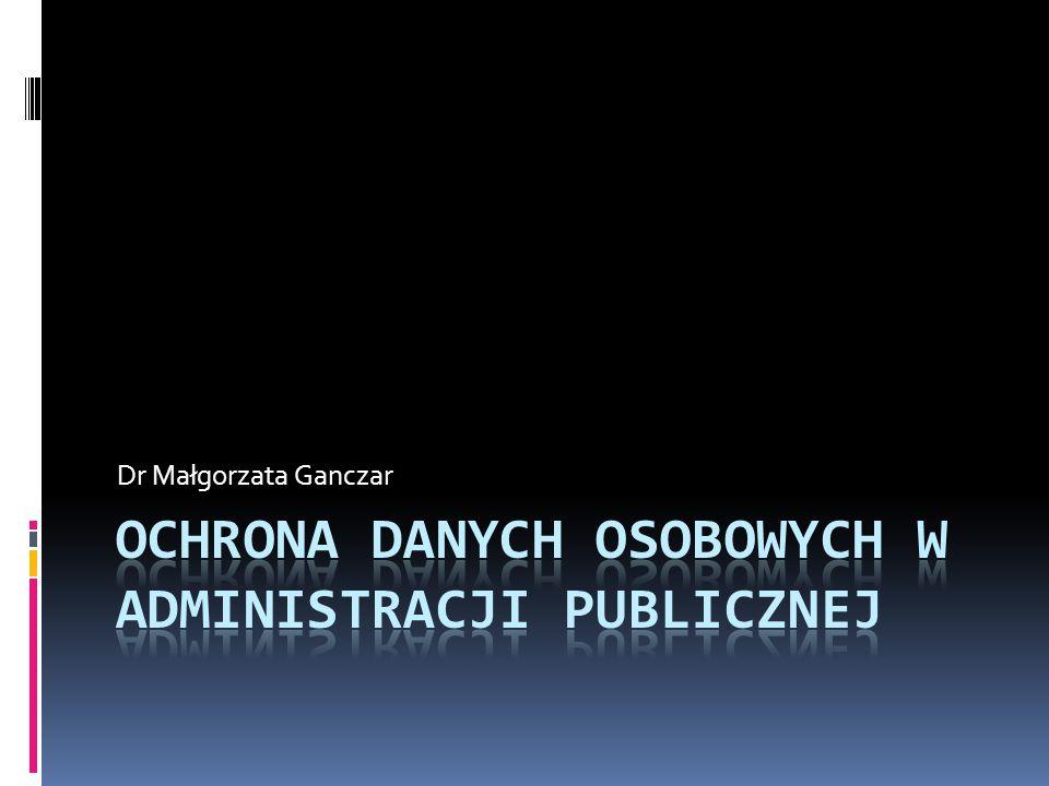 Zabezpieczanie danych osobowych Ustawodawca nie podaje, jakie konkretnie środki mają być zastosowane przez administratora danych.