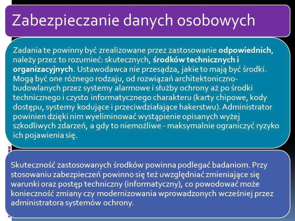 Zabezpieczanie danych osobowych Nowela z dnia 22 stycznia 2004 r.