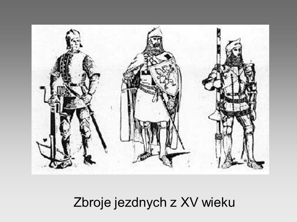 Zbroje jezdnych z XV wieku