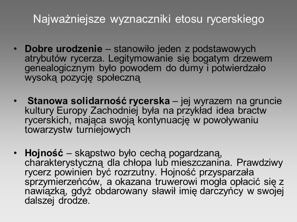 W prezentacji wykorzystano zasoby: http://www.miecze.com.pl http://pl.wikipedia.org http://dorotaokonska.webpark.pl http://www.ornatowski.com/kni.htm http://portalwiedzy.onet.pl http://www.rycerze.org/ http://www.turystykatorun.pl