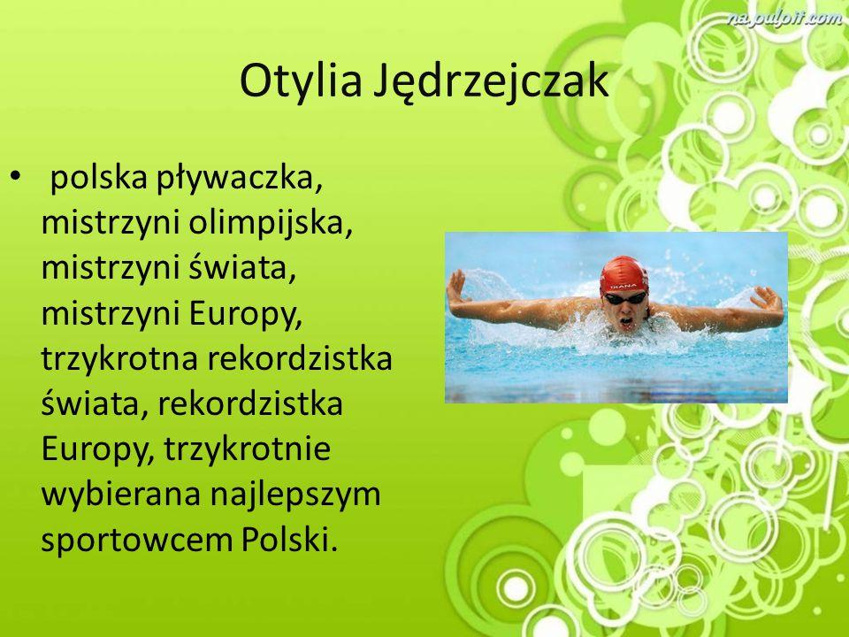 Otylia Jędrzejczak polska pływaczka, mistrzyni olimpijska, mistrzyni świata, mistrzyni Europy, trzykrotna rekordzistka świata, rekordzistka Europy, tr
