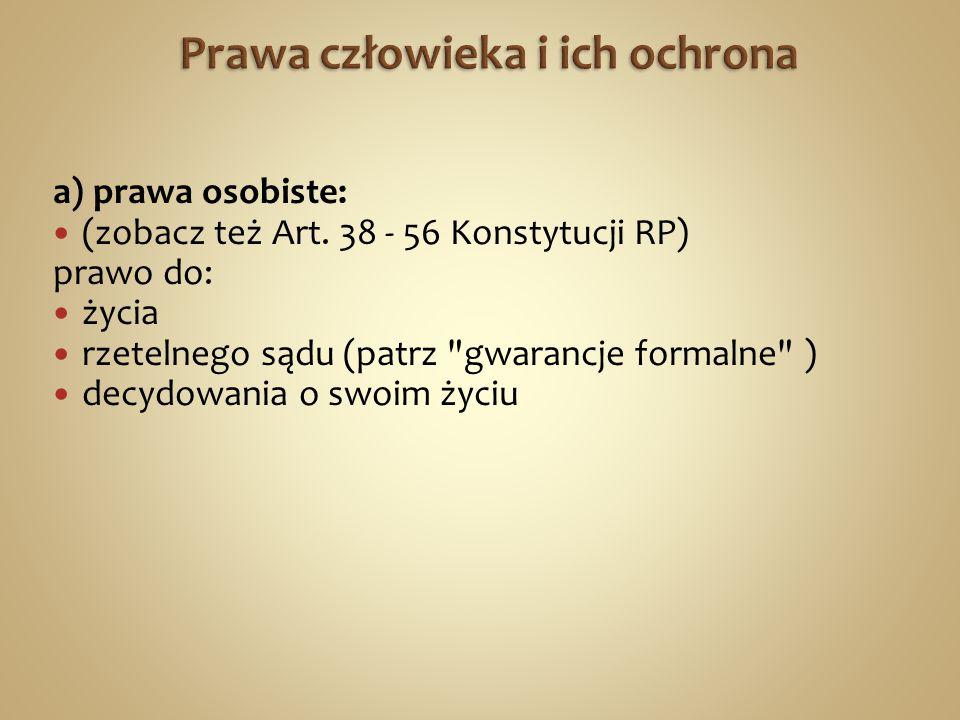 a) prawa osobiste: (zobacz też Art.
