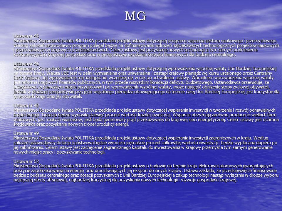 MG Ustawa nr 43 Ministerstwo Gospodarki świata POLITIKA przedkłada projekt ustawy dotyczącej programu wsparcia sektora naukowego i przemysłowego.