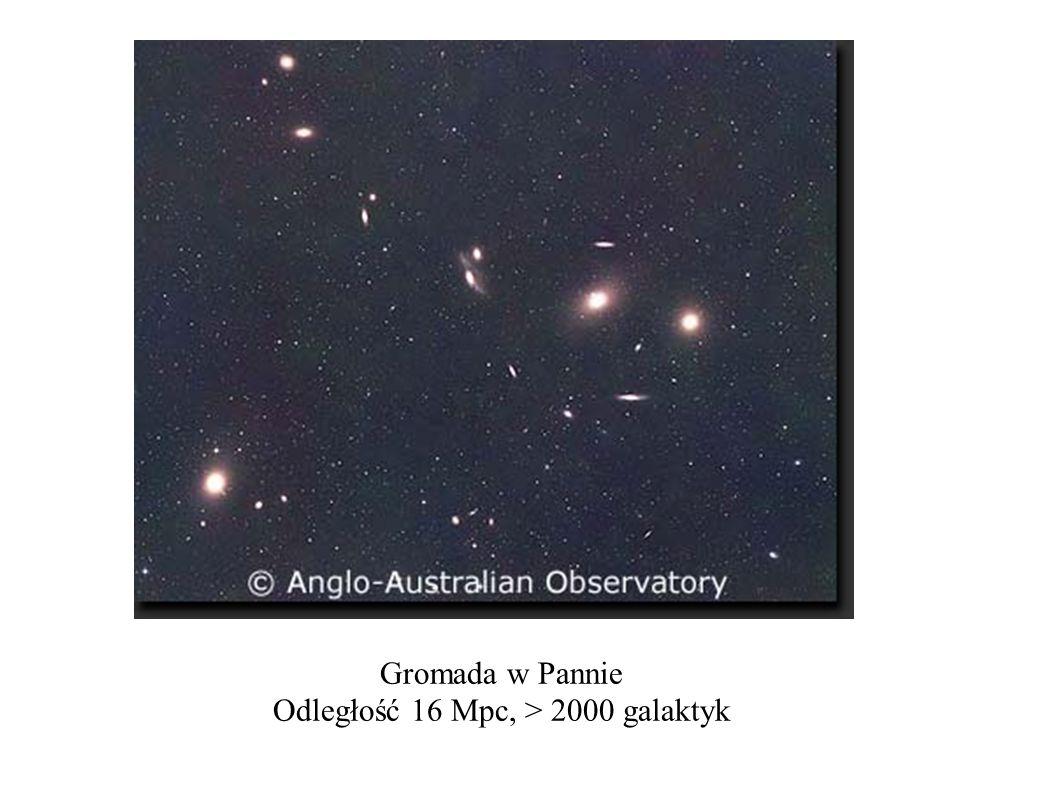 Gromada w Pannie Odległość 16 Mpc, > 2000 galaktyk