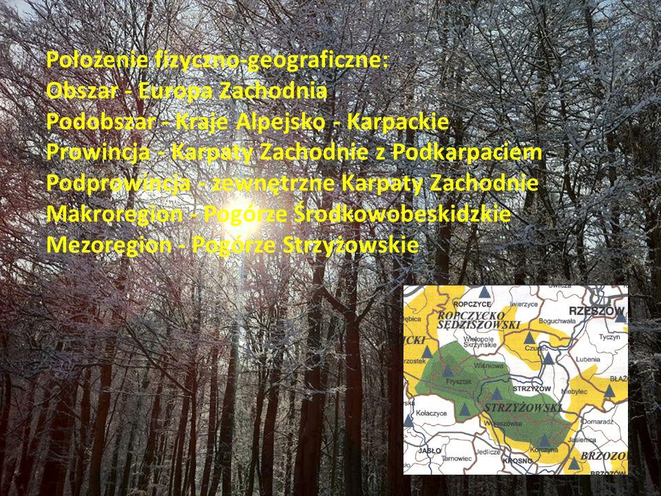Położenie fizyczno-geograficzne: Obszar - Europa Zachodnia Podobszar - Kraje Alpejsko - Karpackie Prowincja - Karpaty Zachodnie z Podkarpaciem Podprow