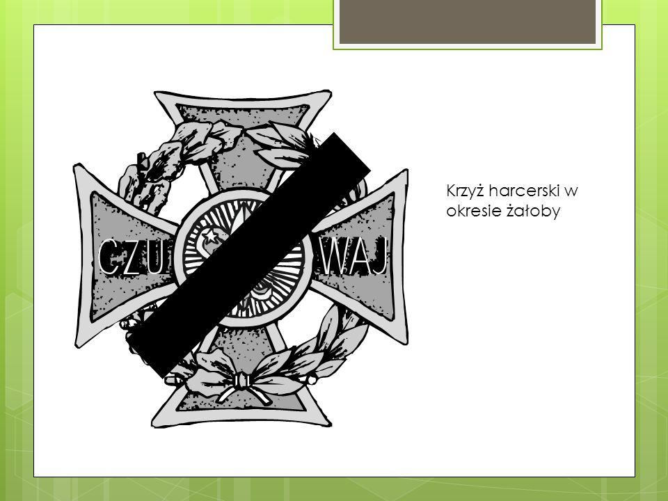 Krzyż harcerski w okresie żałoby