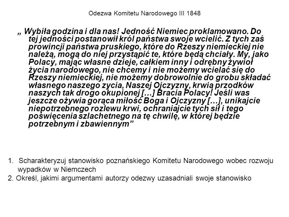 """Odezwa Komitetu Narodowego III 1848 """" Wybiła godzina i dla nas."""