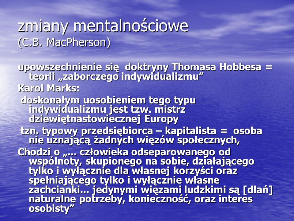 zmiany mentalnościowe (C.B.