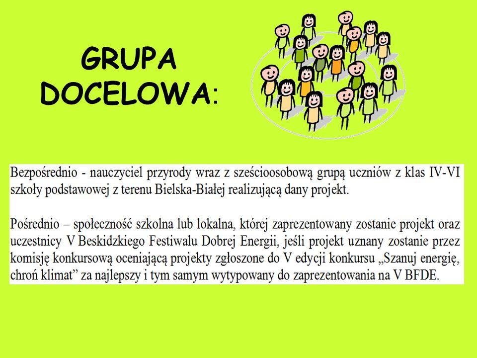 GRUPA DOCELOWA :