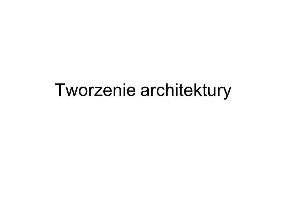 Architektura Architektura [gr.] sztuka projektowania i wznoszenia budowli mających oprócz wartości użytkowych także artystyczne.