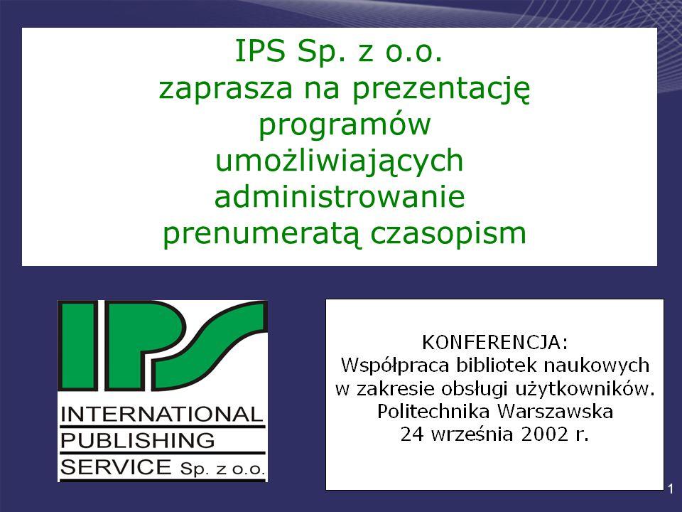 1 IPS Sp. z o.o.