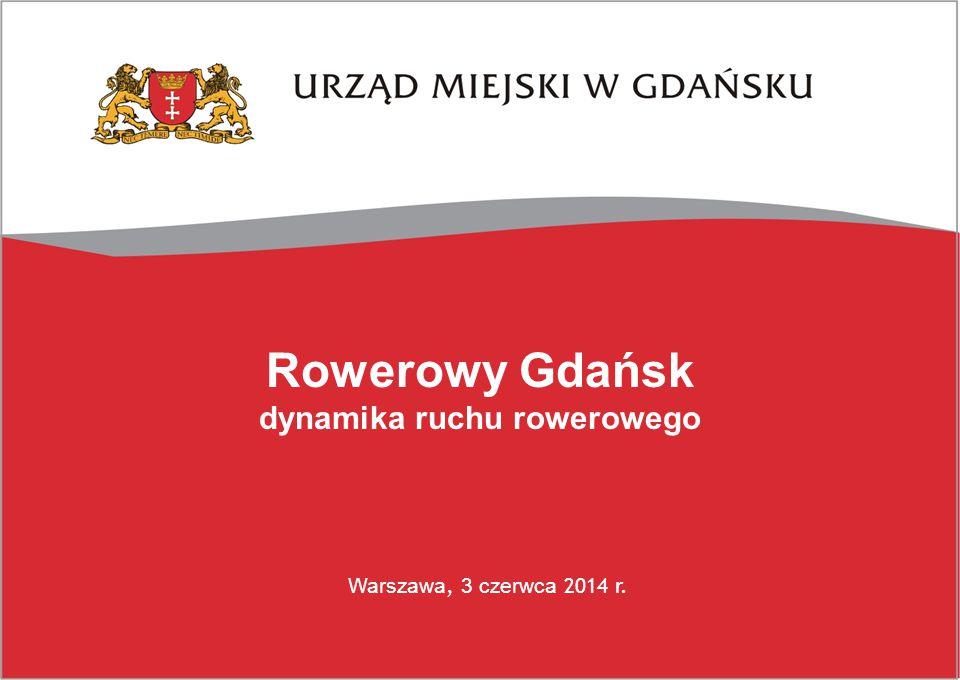 Rowerowy Gdańsk dynamika ruchu rowerowego Warszawa, 3 czerwca 2014 r.