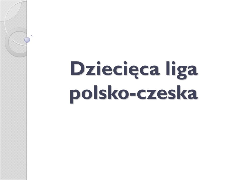 Dziecięca liga polsko-czeska