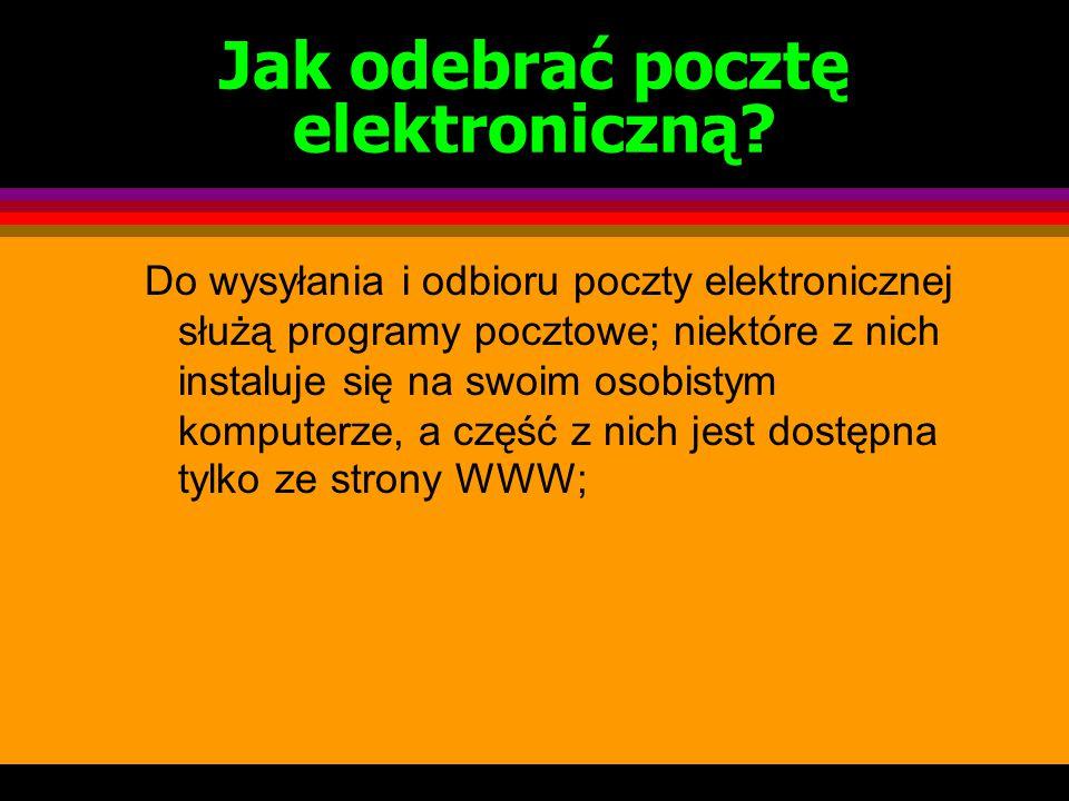 """Budowa adresu poczty elektronicznej Nazwa użytkownika poczty """"et"""" """"małpa """" sport1@ akademia.pl domena oznaczająca Akademię"""