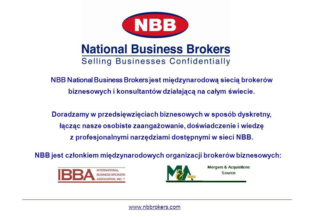 NBB National Business Brokers jest międzynarodową siecią brokerów biznesowych i konsultantów działającą na całym świecie. Doradzamy w przedsięwzięciac
