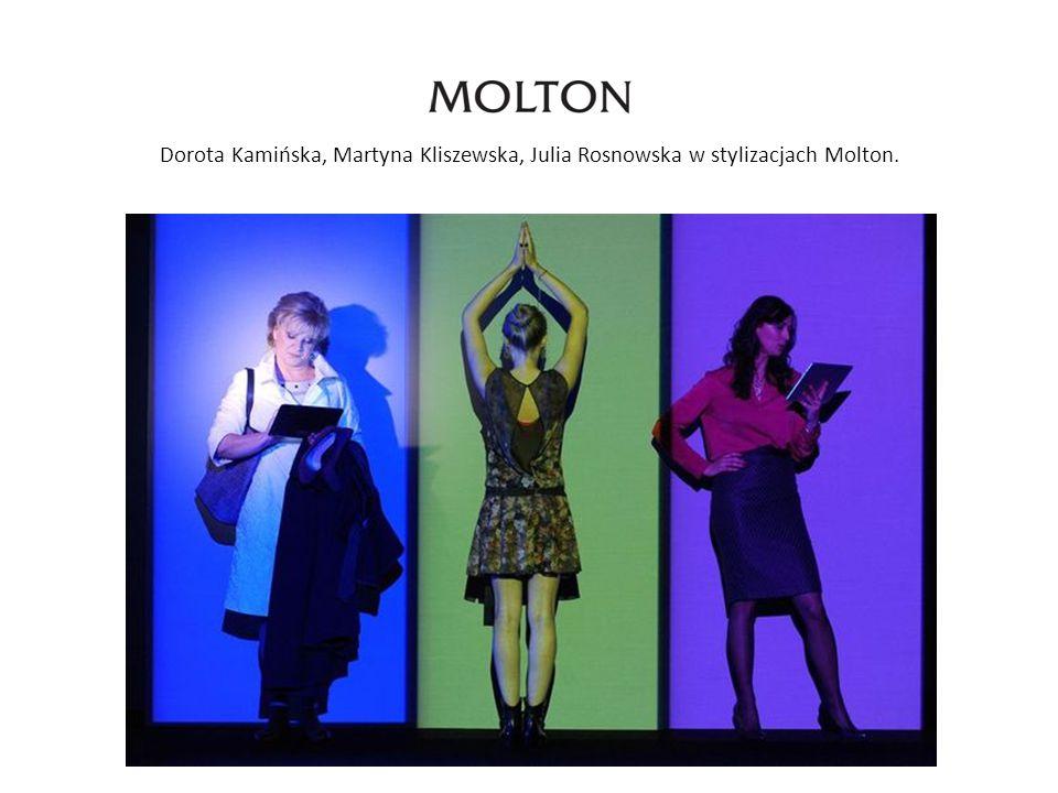 Dorota Kamińska, Martyna Kliszewska, Julia Rosnowska w stylizacjach Molton.