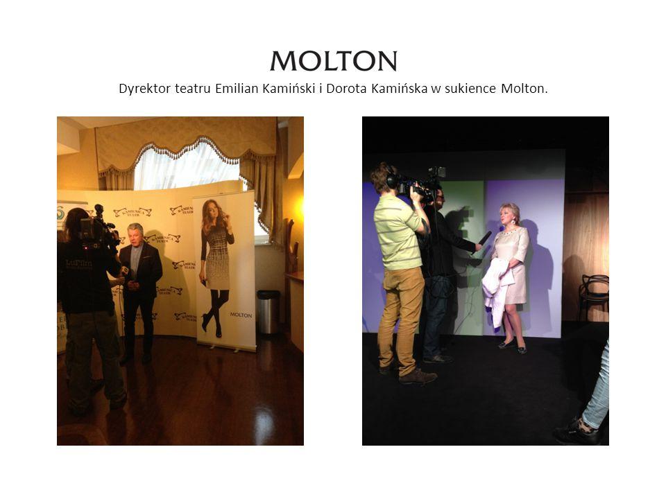 Dyrektor teatru Emilian Kamiński i Dorota Kamińska w sukience Molton.