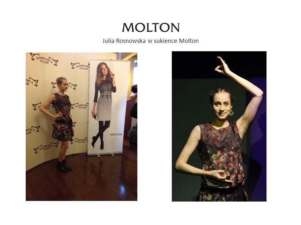 Julia Rosnowska w sukience Molton