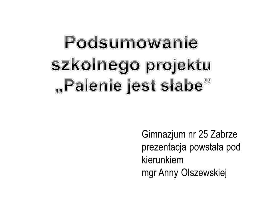 Gimnazjum nr 25 Zabrze prezentacja powstała pod kierunkiem mgr Anny Olszewskiej