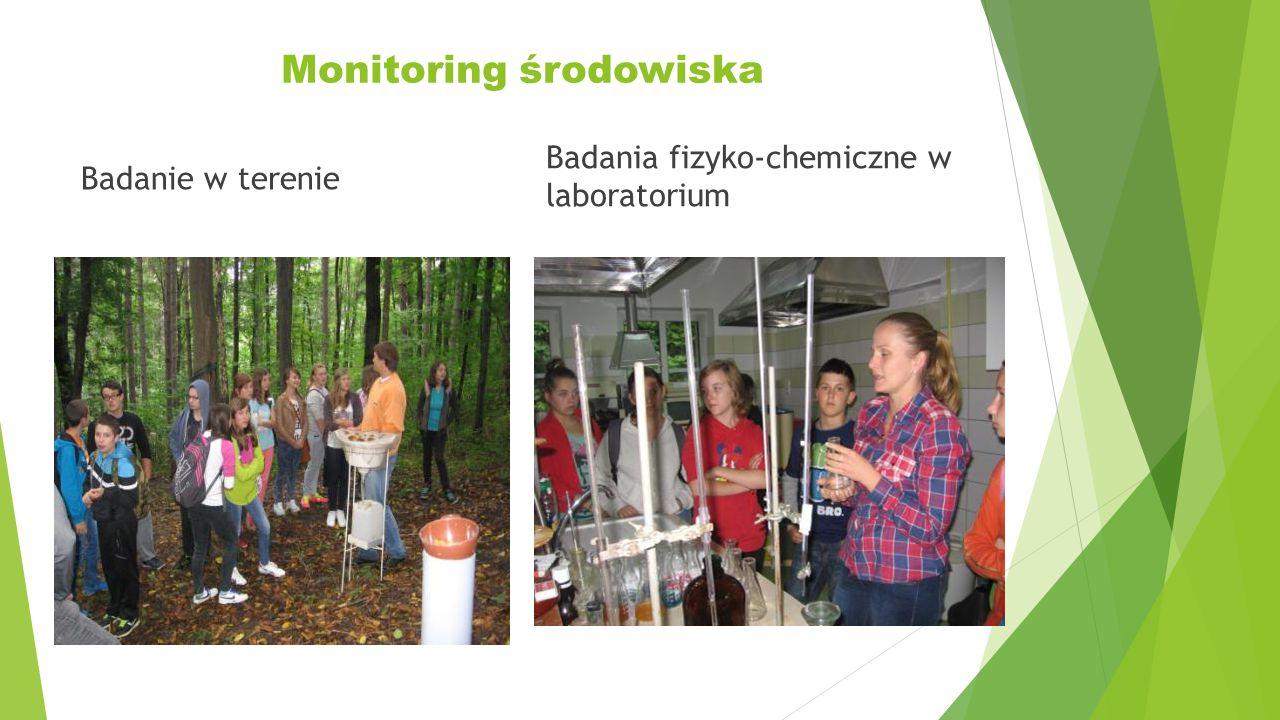 Monitoring środowiska Badanie w terenie Badania fizyko-chemiczne w laboratorium