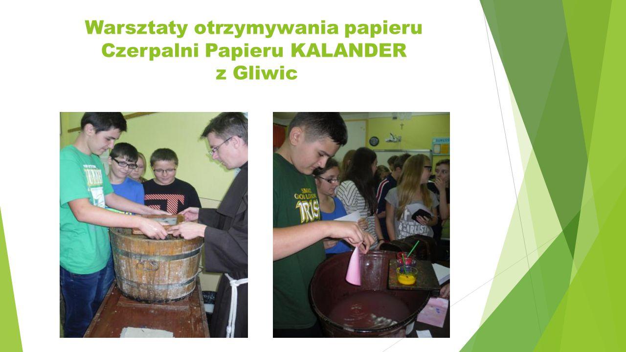 Warsztaty otrzymywania papieru Czerpalni Papieru KALANDER z Gliwic