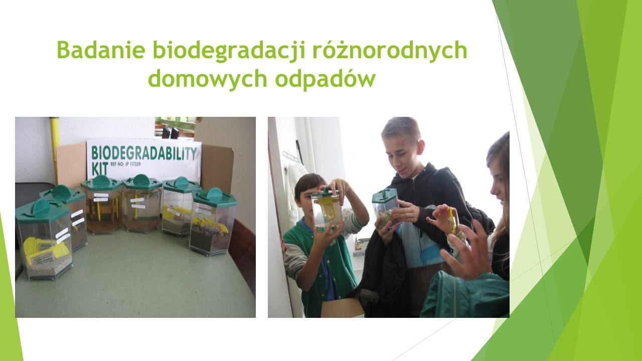 Badanie biodegradacji różnorodnych domowych odpadów
