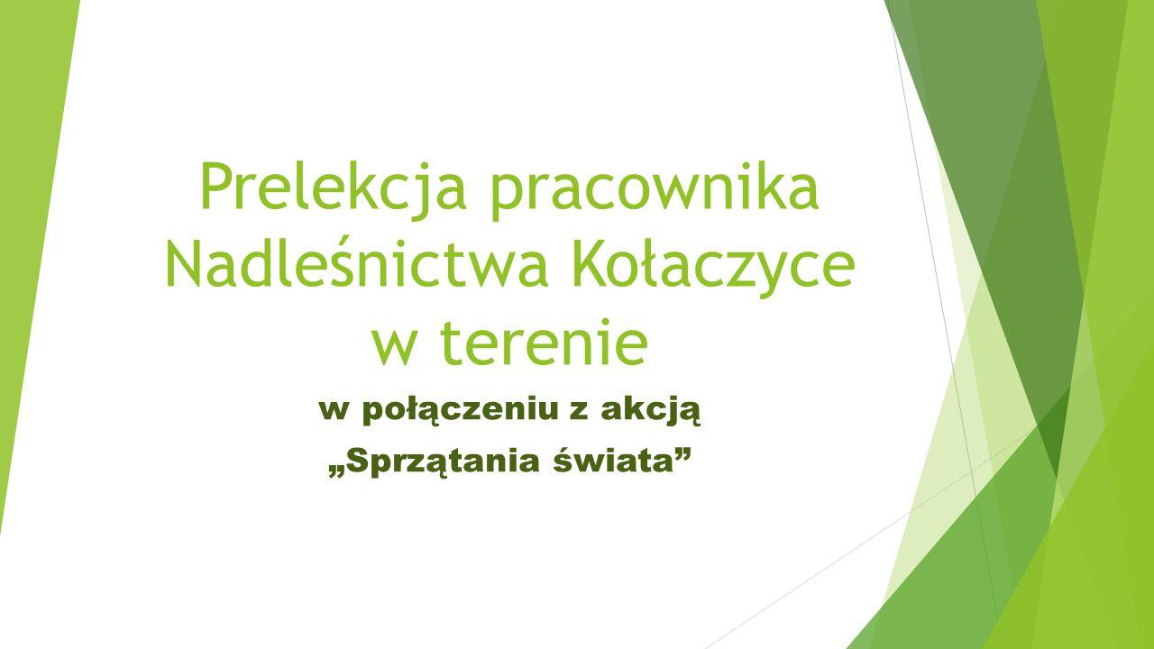 """Prelekcja pracownika Nadleśnictwa Kołaczyce w terenie w połączeniu z akcją """"Sprzątania świata"""