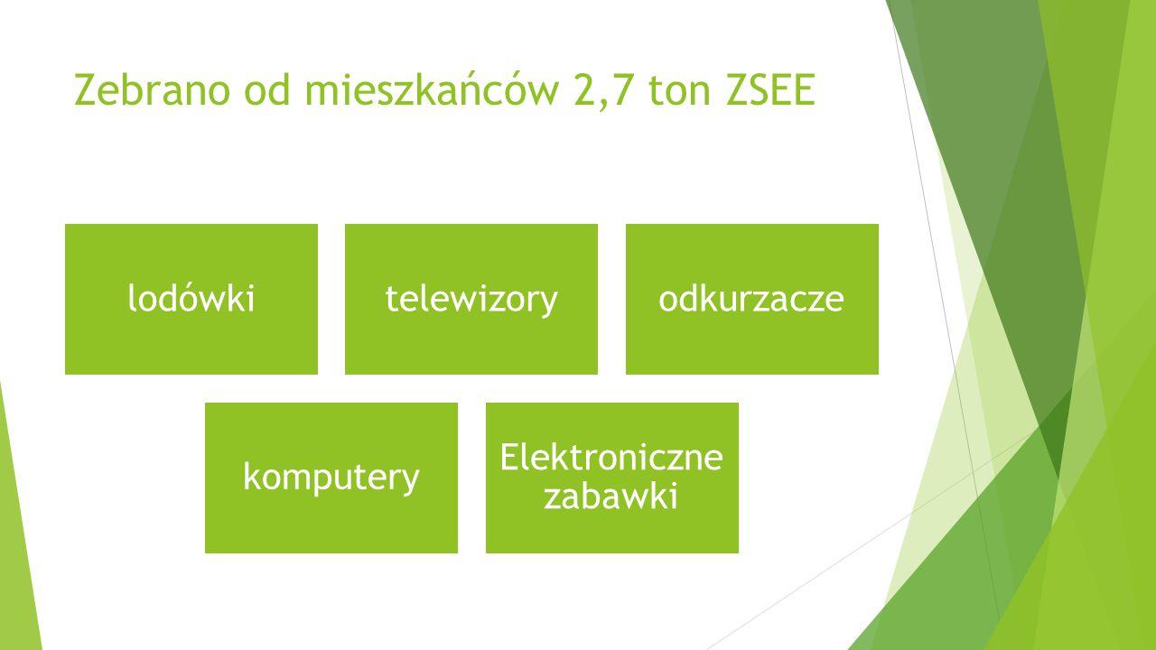 Zebrano od mieszkańców 2,7 ton ZSEE lodówkitelewizoryodkurzacze komputery Elektroniczne zabawki