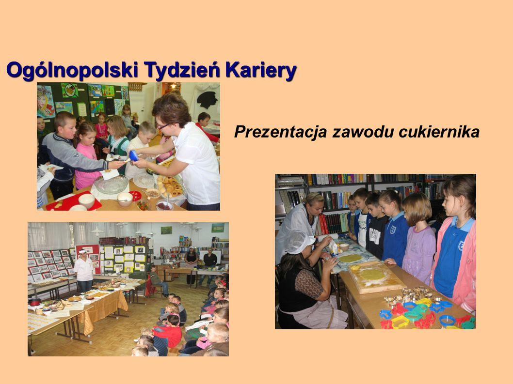 Ogólnopolski Tydzień Kariery Prezentacja zawodu cukiernika
