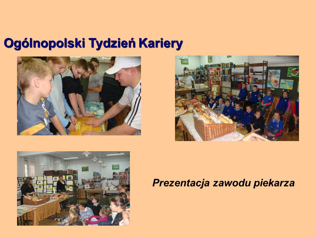 Ogólnopolski Tydzień Kariery Prezentacja zawodu piekarza