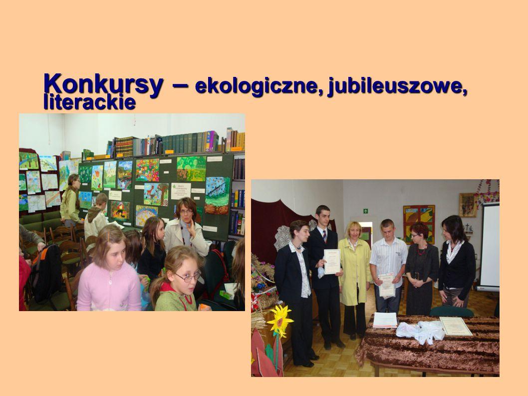 Konkursy – ekologiczne, jubileuszowe, literackie