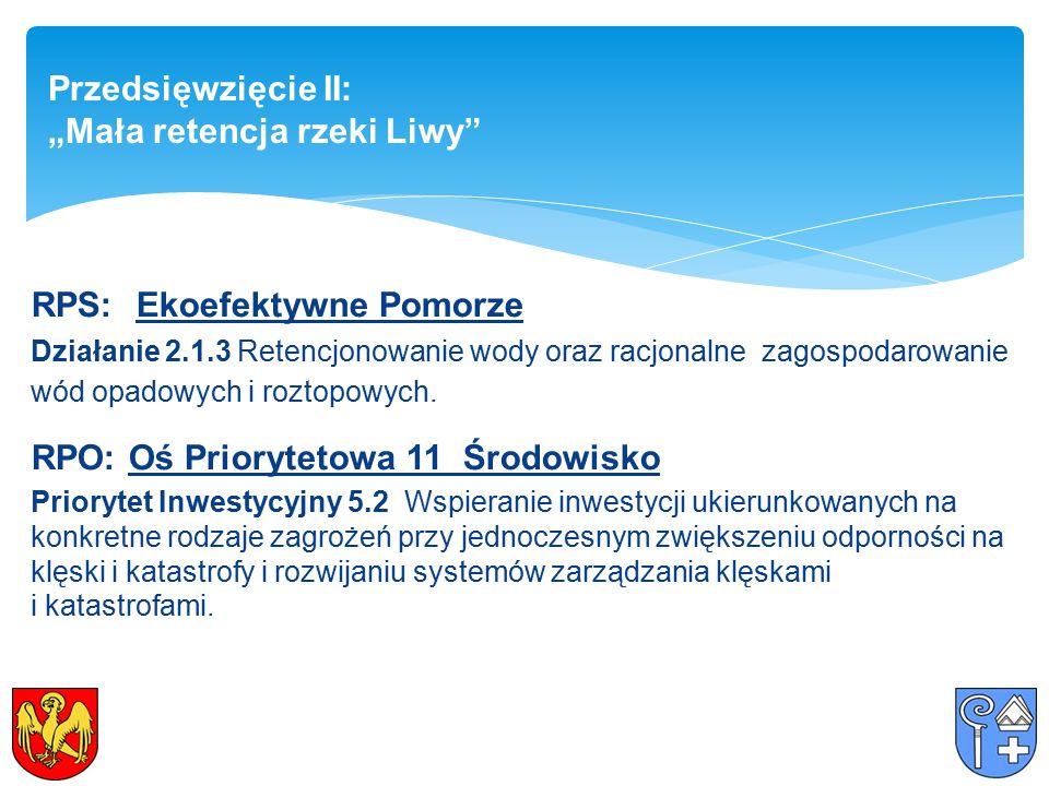 RPS:Ekoefektywne Pomorze Działanie 2.1.3 Retencjonowanie wody oraz racjonalne zagospodarowanie wód opadowych i roztopowych.