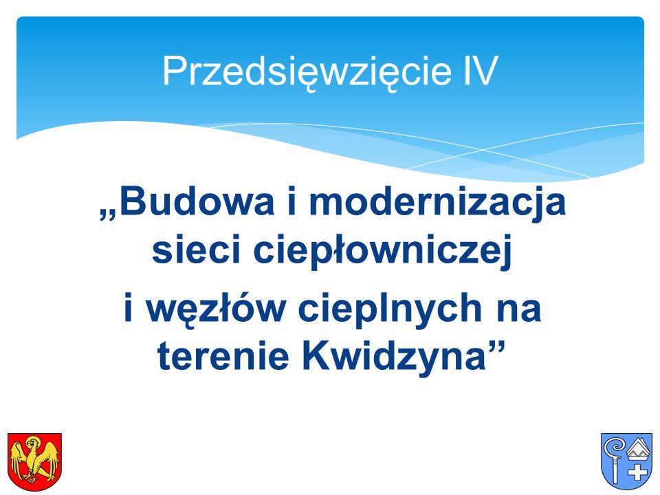 """""""Budowa i modernizacja sieci ciepłowniczej i węzłów cieplnych na terenie Kwidzyna Przedsięwzięcie IV"""