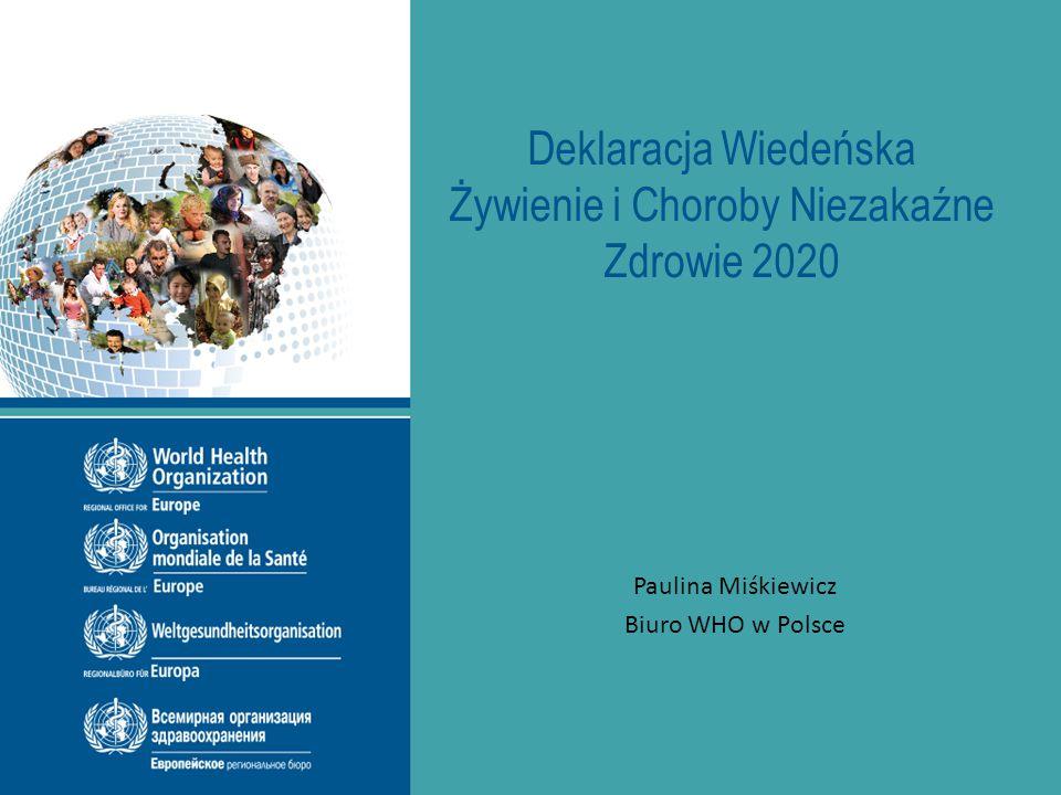 Deklaracja Wiedeńska Żywienie i Choroby Niezakaźne Zdrowie 2020 Paulina Miśkiewicz Biuro WHO w Polsce