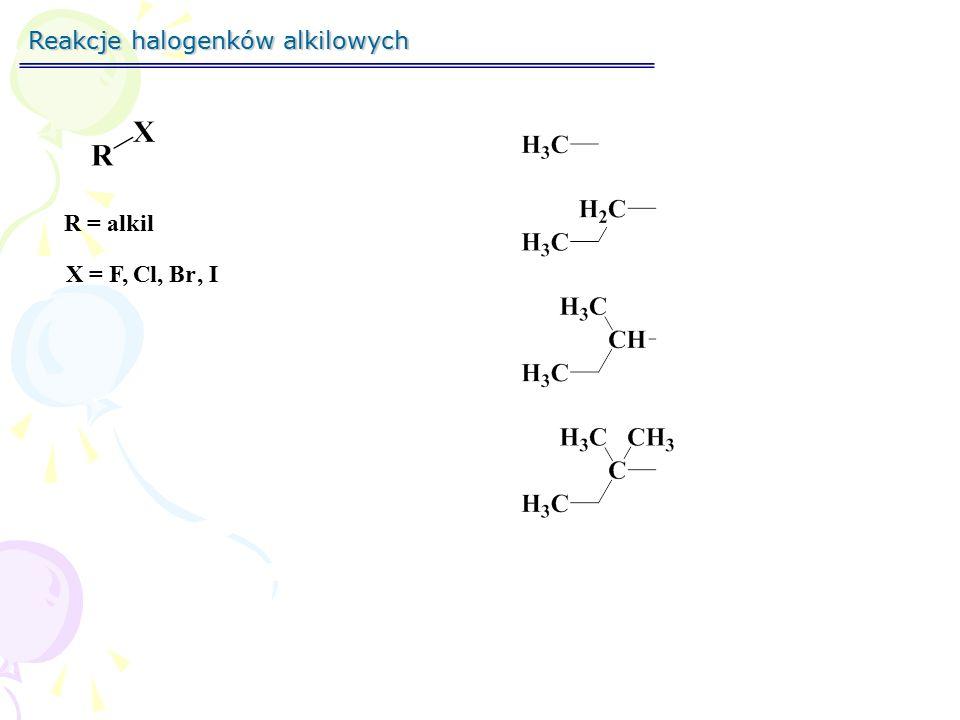 Reakcje halogenków alkilowych